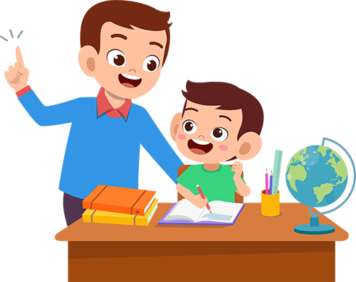 an expert helping a student with homework