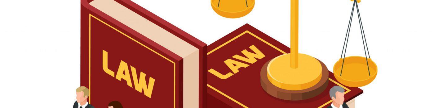 Law books, lawyers